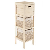 Cream Cabinet with Drawers